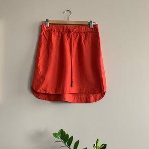 Banana Republic orange hi-lo skirt